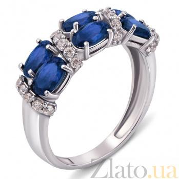 Серебряное кольцо  с сапфирами Фиолент 1632/9р сапф