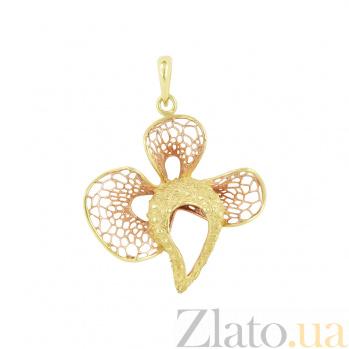 Золотой подвес Цветок орхидеи 2П586-0026