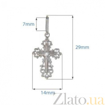 Серебряный крестик AQA--3009