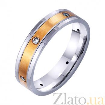 Золотое обручальное кольцо Пьянящий аромат любви с фианитами TRF--4421733