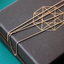 Золотая цепочка якорного плетения Легкий бриз