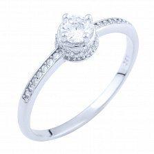 Серебряное кольцо Барбара с фианитами
