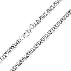 Серебряный браслет в плетении бисмарк 000118132, 3мм