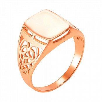 Перстень-печатка из красного золота 000104210