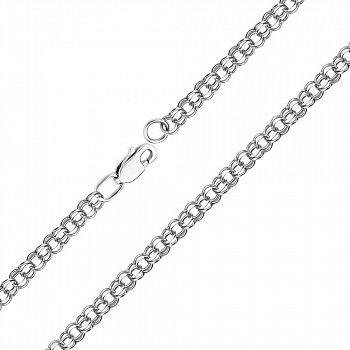 Срібний браслет в плетінні бісмарк 000118132, 3мм