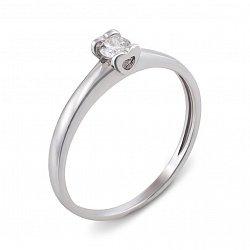 Кольцо из белого золота с бриллиантом 000134832