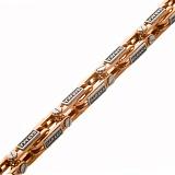 Браслет из комбинированного золота Статусность с бриллиантом