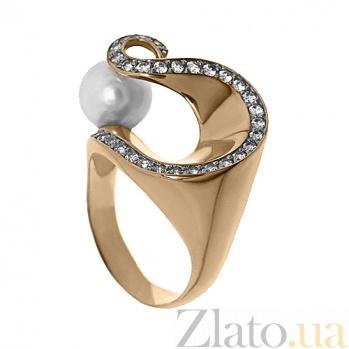 Золотое кольцо с жемчугом Ариадна TNG--320789