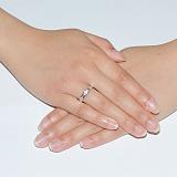 Обручальное кольцо с бриллиантами в белом золоте Румба
