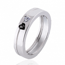 Обручальное кольцо Hearts с бриллиантами