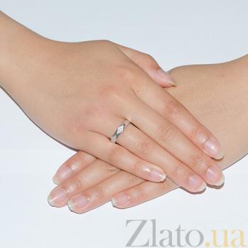 Обручальное кольцо с бриллиантами в белом золоте Румба 000016053