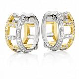 Серьги Argile-F из белого и лимонного золота