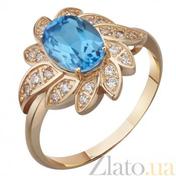Золотое кольцо с топазом Дареия AUR--31798 01