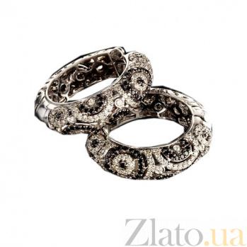 Золотые серьги с бриллиантами Вирджини KBL--С2271