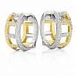 Серьги Argile-F из белого и лимонного золота E-ArF-W/E-176d