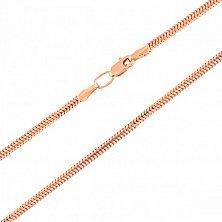 Золотая цепочка Тонда в плетении круглый снейк, 1мм