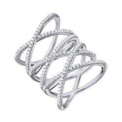 Серебряное кольцо с фианитами 000134286