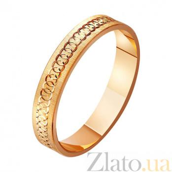 Золотое обручальное кольцо Вечная история TRF--411064