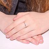 Кольцо в белом золоте Заветное желание с фианитом