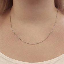 Серебряная родированная цепочка Оливия в якорном плетении, 1мм