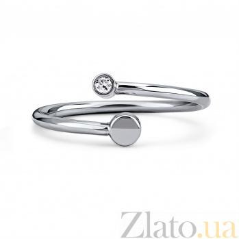 Серебряное кольцо Юпитер с бриллиантом 000098285