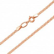 Золотая цепочка Моник в красном цвете c алмазной гранью, 2,5мм