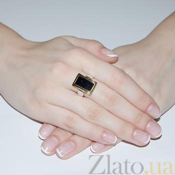 Серебряное кольцо Астра с золотом и авантюрином BGS--254/1к авант