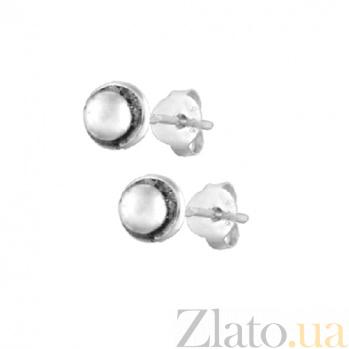 Серебряные сережки-пуссеты Бисер SLX--С5/028