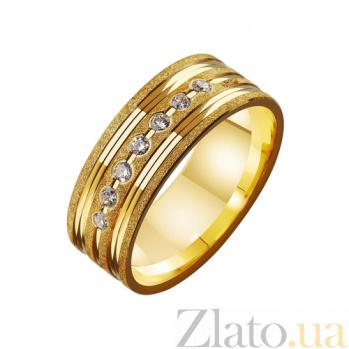 Золотое обручальное кольцо с фианитами Аделаида TRF--4121625