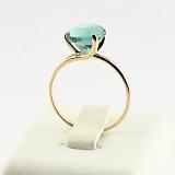 Золотое кольцо Селесте с синтезированным аметистом