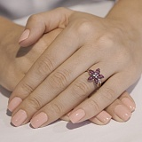 Кольцо из белого золота с рубинами Изабелла