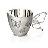 Серебряная кофейная чашка Нежность
