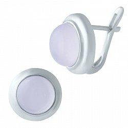 Серебряные серьги Фея с розовым кварцем 000068913