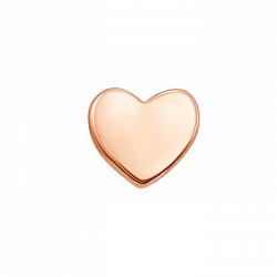 Золотая серьга-пуссета Сердце