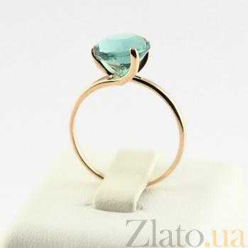 Золотое кольцо Селесте с синтезированным аметистом 000024451