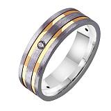 Золотое обручальное кольцо с фианитами Восторг