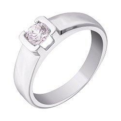 Кольцо из белого золота Взаимность с кристаллом Swarovski