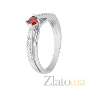 Серебряное кольцо с красным цирконием Балет 000028127