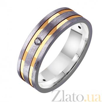 Золотое обручальное кольцо с фианитами Восторг TRF--4221571