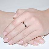 Золотое кольцо с бриллиантом Вечность страсти