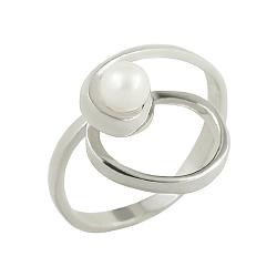 Серебряное кольцо с жемчугом Леонтайн