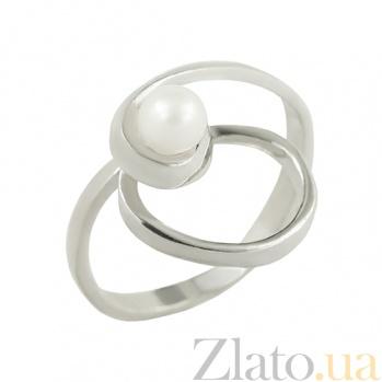 Серебряное кольцо с жемчугом Леонтайн 3К760-0003