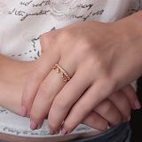 Золотое кольцо с фианитами Королевна