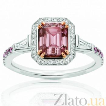 Кольцо Argile из белого золота с розовыми сапфирами и бриллиантами R-cjAr-W-13s-27d