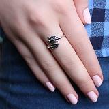 Серебряное кольцо Стрела с чернением