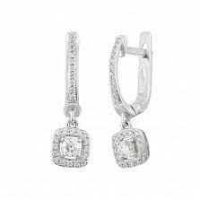 Серьги из белого золота с бриллиантами Душевная радость