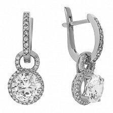 Серебряные серьги с цирконием Жанна