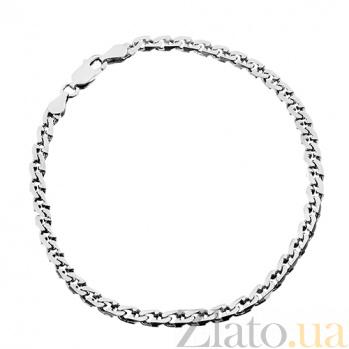 Серебряный браслет Бремен, 21 см, 2,5 мм 000030858