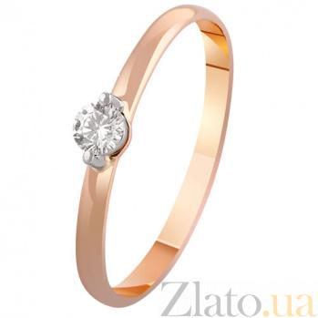 Золотое кольцо с бриллиантом Селина KBL--К1949/крас/брил