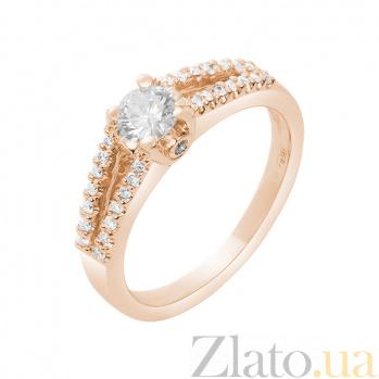 Кольцо в красном золоте Вионелла с бриллиантами 000079236